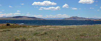 10 Mile Panoramic. Reservoir in South Park Valley, Colorado royalty free stock photo