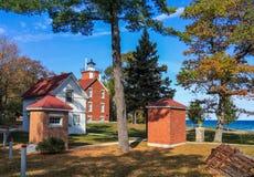 40 Mile Point Lighthouse on Lake Huron Stock Image