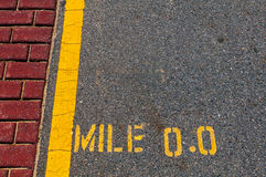 Mile 0.0 Stock Photography
