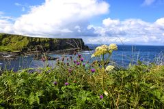 Antrim Coastline in Northern Ireland. The 20-mile stretch of the Antrim Coastline in Northern Ireland royalty free stock images