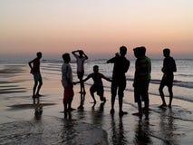 Mile widziany plażowa fotografia Zdjęcia Royalty Free