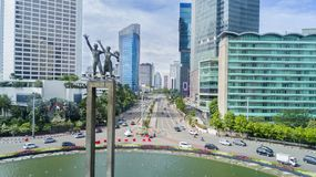 Mile widziany zabytek w Hotelowym Indonezja rondzie Obraz Stock