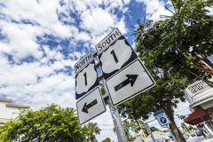 Mile Zero in Key West Stock Images