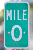 Mile Zero Sign in Key West, Florida Royalty Free Stock Photography