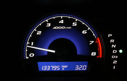 Mileage. Car speed blue digis Royalty Free Stock Image