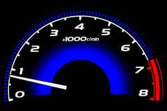 Mileage of speed car. Mileage of the speed car (Speed meter Stock Images