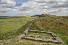Milecastle 39 sulla parete di Hadrians Immagini Stock Libere da Diritti