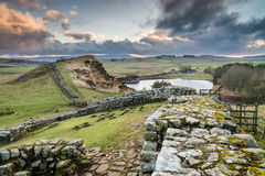 Milecastle 42 na Hadrian ścianie obraz royalty free