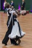 Milehin Matvey and Dyavgo Dariya Perform Juvenile-1 Standard European Program Stock Photo