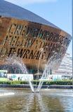 Milenio Cardiff de centro Imágenes de archivo libres de regalías