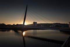 Milenium bridżowy Swansea Zdjęcia Royalty Free