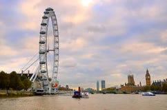 Milenium koło, Londyn, UK (Londyński oko) Zdjęcie Royalty Free
