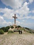 Milenium krzyż w Macedonia Obrazy Royalty Free