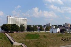 Milenium kwadrat Vitebsk i bulwar Zachodni Dvina Obraz Stock