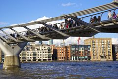 Milenium most, Londyn Zdjęcia Royalty Free