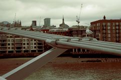 Milenium most Londyn, England - obrazy royalty free