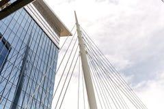 Milenium most przy b?onie parkiem w Denver, Kolorado zdjęcie royalty free