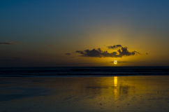 90 Miles Beach Sunset Lizenzfreies Stockbild
