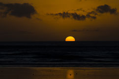 90 Miles Beach Sunset Photos libres de droits