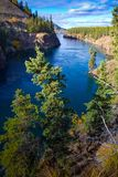 Miles Canyon, le fleuve Yukon, Whitehorse, territoires de Yukon, Canada photographie stock libre de droits