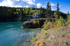 Miles Canyon, le fleuve Yukon, Whitehorse, territoires de Yukon, Canada Image libre de droits
