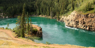 Miles Canyon, Whitehorse, Yukon, Canada Royalty Free Stock Image