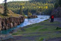 Miles Canyon, Yukon River, Whitehorse, Yukon Territories, Canada stock photography
