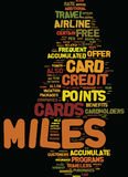 Miles Credit Cards Strategies To accumula il concetto di Miles Text Background Word Cloud Immagini Stock Libere da Diritti