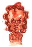 Miles Davis Watercolour Caricature illustration royalty free stock photo