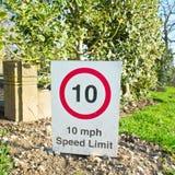 10 Miles par heure Photo libre de droits