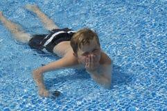 Miles in pool Stock Photo