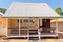 State School At Miles Museum And Historical Village. MILES, QUEENSLAND, AUSTRALIA - January 25th 2019: Miles Historical Village And Museum state school building stock photography