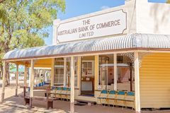 Bank Building At Miles Museum And Historical Village. MILES, QUEENSLAND, AUSTRALIA - January 25th 2019: Miles Historical Village And Museum bank commerce royalty free stock photos