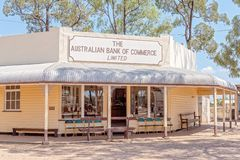 Bank Commerce Building At Miles Museum And Historical Village. MILES, QUEENSLAND, AUSTRALIA - January 25th 2019: Miles Historical Village And Museum bank stock images
