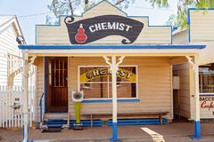 Chemist Shop At Miles Museum And Historical Village. MILES, QUEENSLAND, AUSTRALIA - January 25th 2019: Miles Historical Village And Museum chemist shop stock photo