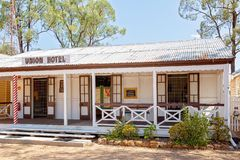 Hotel At Miles Museum And Historical Village. MILES, QUEENSLAND, AUSTRALIA - January 25th 2019: Miles Historical Village And Museum hotel stock photo