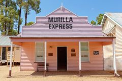 Newspaper And Publishing Building At Miles Museum And Historical Village. MILES, QUEENSLAND, AUSTRALIA - January 25th 2019: Miles Historical Village And Museum royalty free stock photo