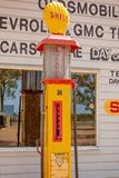 Vintage Petrol Pump At Miles Museum And Historical Village. MILES, QUEENSLAND, AUSTRALIA - January 25th 2019: Miles Historical Village And Museum vintage petrol royalty free stock photography