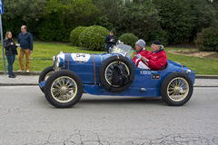 1000 Miles, Salmson GS 8 GD Sport (1929), FUSI Claudio and SALA Royalty Free Stock Image