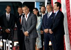 Miles Teller, Taylor Kitsch, Josh Brolin, Jeff Bridges, Jennifer Connelly, Dierks Bentley, Joseph Kosinski och James Badge Dale Royaltyfria Foton
