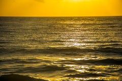 Miles of Texas Coast Beach open ocean water front Stock Photo