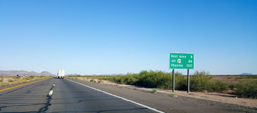 100 miles to Phoenix, AZ Stock Images