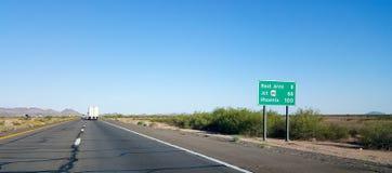 100 miles to Phoenix, AZ Stock Images