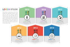 Milestone and business presentation infographic. In vector eps10 royalty free illustration