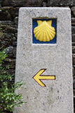 Milestone at at Camino de Santiago Royalty Free Stock Images