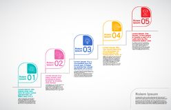 Milestone Company, Infographic传染媒介,路线图设计模板 向量例证