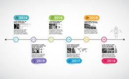 Milestone Company, vecteur d'Infographic Photo stock