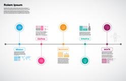 Milestone Company, vettore di Infographic, modello di progettazione della carta stradale, Immagini Stock