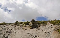 Milestone on Kilimanjaro Royalty Free Stock Images