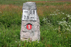 Milestone Road Number 1 Stock Photos